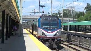 Amtrak and MARC trains at Halethorpe Station 7/24/15