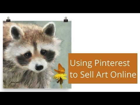 Using pinterest to sell art online youtube for Where can i sell paintings online