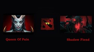Queen of pain vs Shadow Fiend на рарку!
