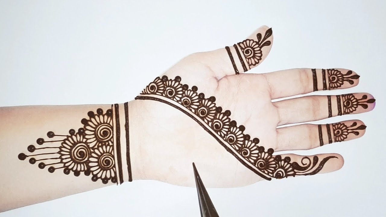 Very Easy Arabic mehndi design trick    Simple mehandi designs   mehndi designs   Shab's Creation