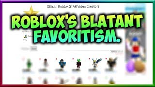 ROBLOX's Favoritism...