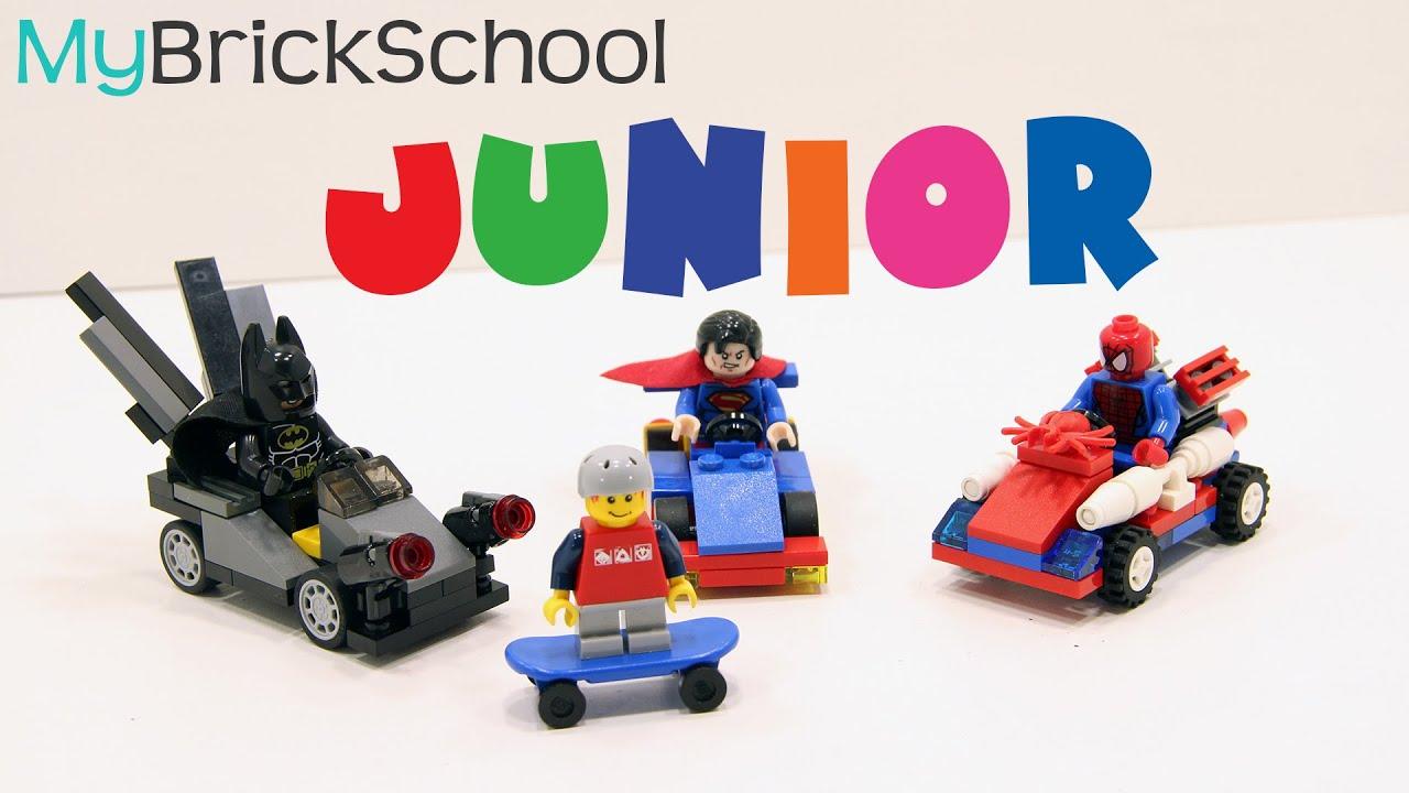 Lego junior superhero mighty micro cars - build with ...