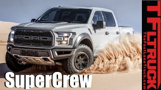 2017 Ford F-150 Raptor SuperCrew: Everything You Ever Wanted to Know(http://www.TFLtruck.com ) 2017 Ford F-150 Raptor SuperCrew Cab - The Ford F-150 SuperCrew Raptor rides on a 145-inch wheelbase (this is 12 inches longer ..., 2016-01-11T21:28:49.000Z)