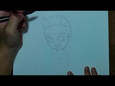 Draw Anime | สอนวาดรูป การ์ตูน นารูโตะ โหมด เก้าหาง Naruto | Ep 01 ร่างดินสอ