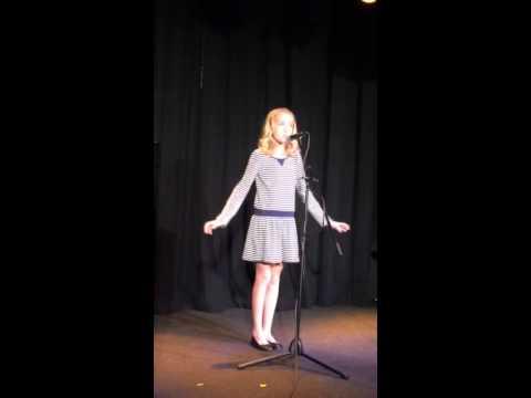 """Avery sings. """"In my own little corner """""""