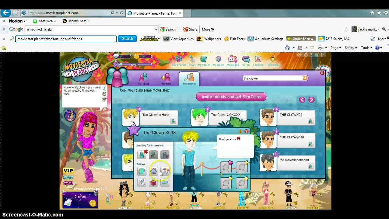 The clown is real moviestarplanet youtube mozeypictures Choice Image