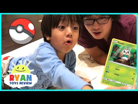 TOY HUNT Ryan ToysReview And First Time Opening Pokemon Cards Game