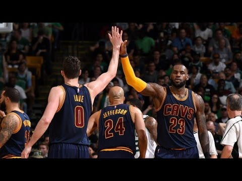 Cavs Show No Rust! LeBron and Kevin Love Combine for 70! Cavs Celtics Game 1