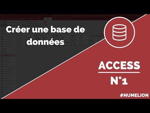 Tutoriel et cours Access n°1 : Création d'une base de données