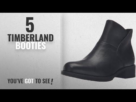 Top 5 Timberland Booties [2018]: Timberland Women's Beckwith Side Zip Chelsea Boot, Jet Black
