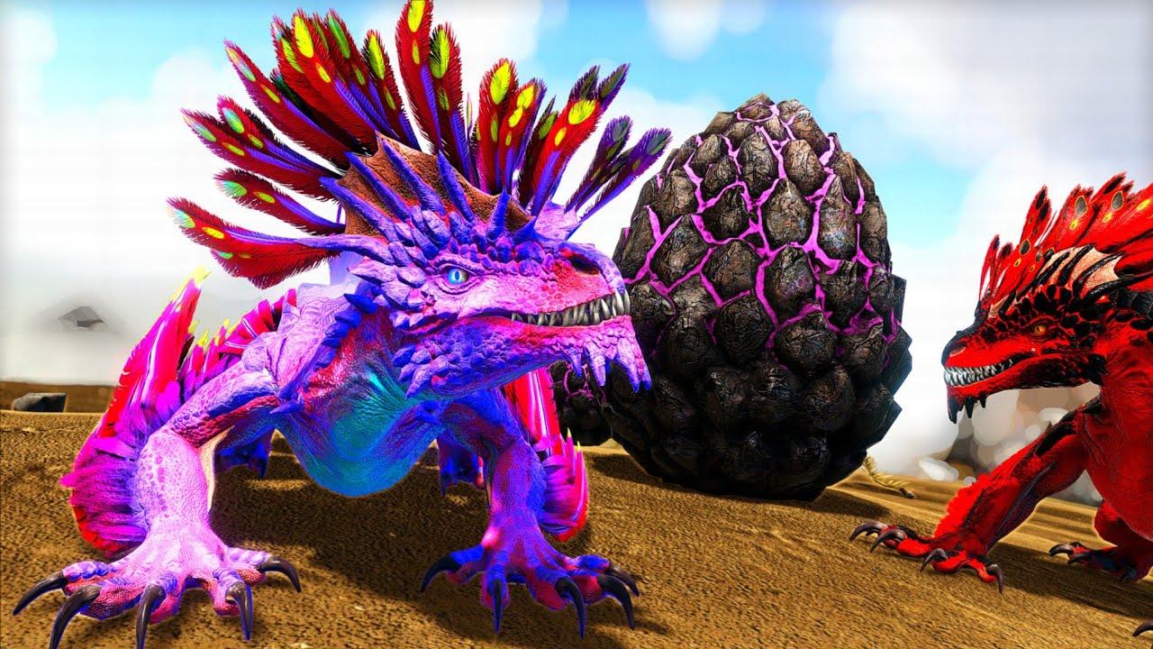 Os Bebês Dragão da Rocha Nasceram EXTREMAMENTE PODEROSOS! Pai Indoraptor - Ark Dinossauros