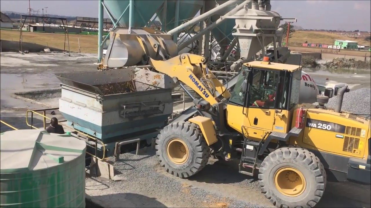 Concrete Plant Loader : Karoo batch plant demonstration at ontime readymix youtube