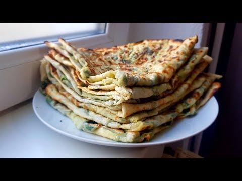 Gözleme Tarifi - Fladenbrote mit Spinatfüllung / spinach - turkish Rezept/Recipe