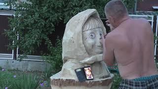 Маша и медведь руками Мастера. Скульптуры.