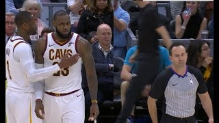 LeBron James gets ejected for the first time in his career vs Miami Heat!
