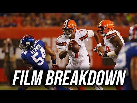 Film Breakdown: DeShone Kizer vs New York Giants 2017 Preseason Week 2