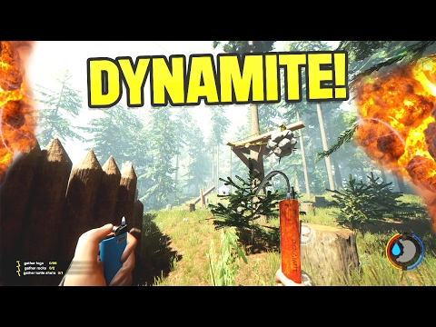 DYNAMITE IN THE FOREST?!   The Forest Gameplay 7