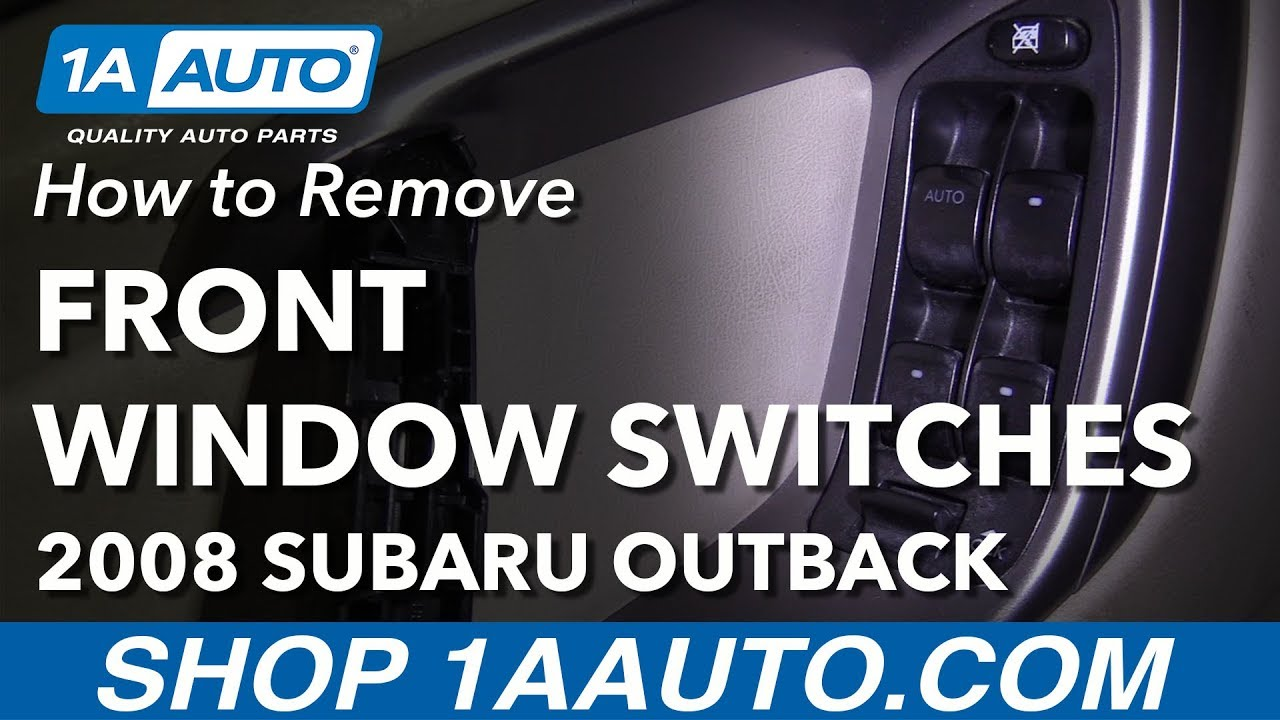 how to replace front power window switch 04 09 subaru outback window motor installation (w pics
