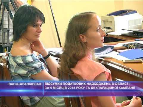 Підсумки податкових надходжень за 5 місяців 2018 року в Івано-Франківській області