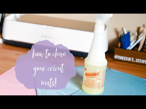 HOW TO CLEAN YOUR CRICUT MATS & MAKE THEM STICKY AGAIN! | CHEAP & EASY METHOD!
