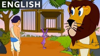 Caged Lion - Hitopadesha Märchen in Englisch - Animation/Zeichentrick-Geschichten Für Kinder