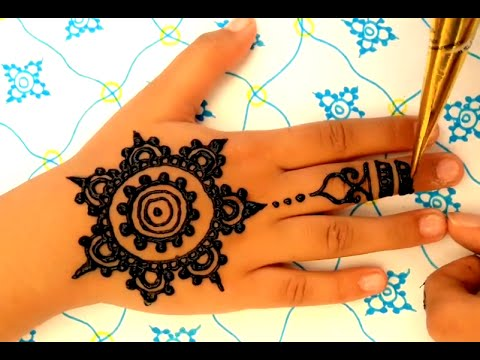 ᴴᴰ Diy Simple Henna Mehndi Art Jasa Hena Indo Youtube