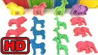 Kid -Kids -Making Animal Shapes In Colorful Kinetic sand/Toy Animal Surprises/Learn Colors With Tay