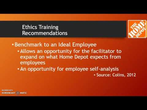 Optimal Ethics System Check-Up & Recommendations: Home Depot