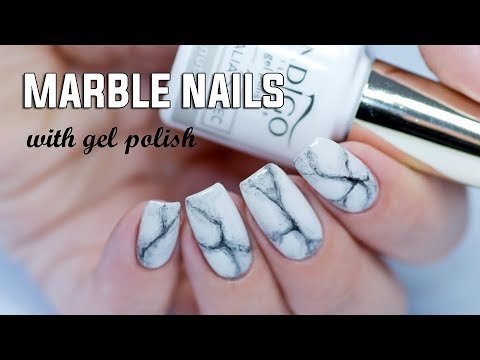 Realistic Marble Nails Easy Step By Step With Gel Polish Youtube
