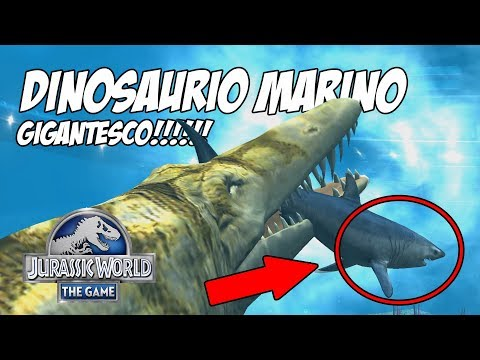 DINOSAURIO MARINO GIGANTE!!! #JurassicWorld El Juego #200
