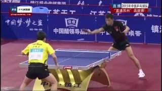 《乒乓球慢动作教学视频》第8集:张继科正手侧旋发球技术