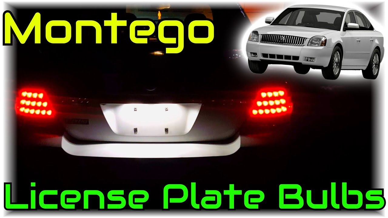 Mercury Montego License Plate Bulb Replacement Normal Or Led Cars Simplified