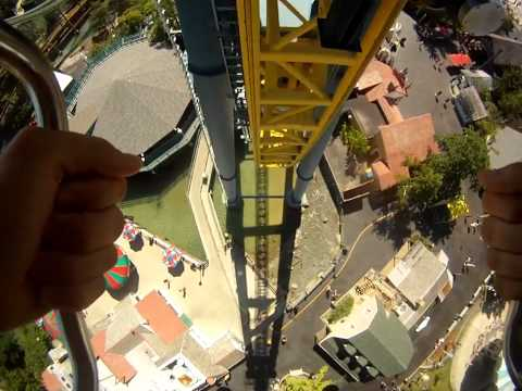 Vertical Velocity V2 Roller Coaster Front Seat POV Six Flags Great America On-Ride