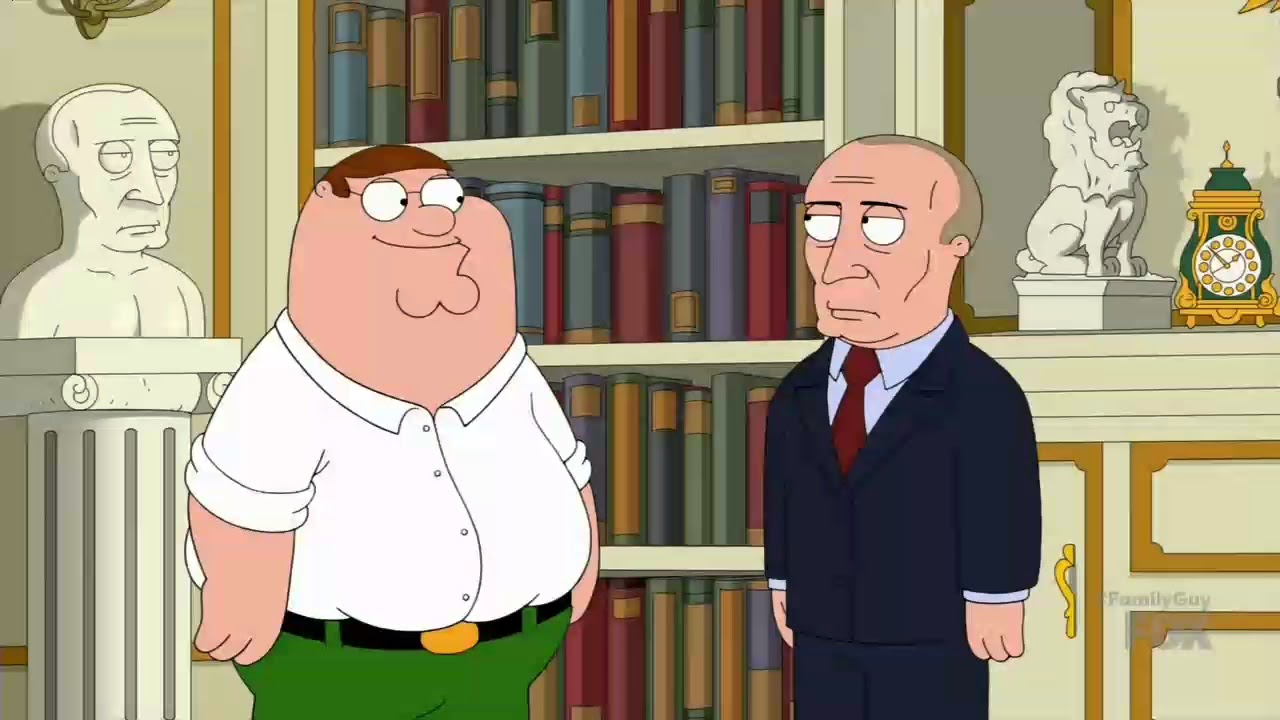 Peter Griffin And Vladimir Putin Family Guy Youtube