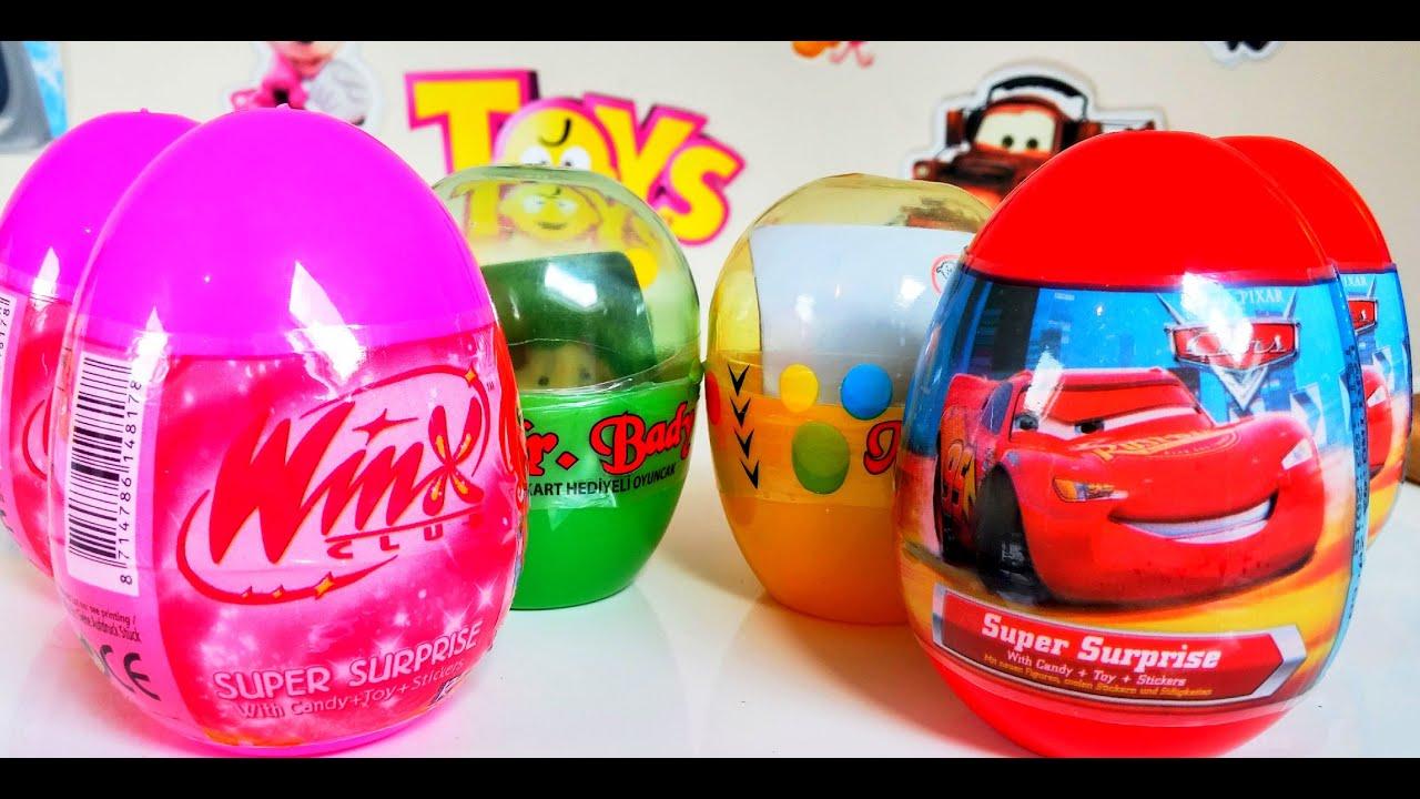 Disney Arabalar Winx Club Sürpriz Yumurtaları Açıyoruz Vinks Klubu