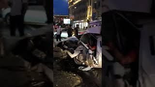 Ефремов ДТП , машина Захарова . Удар был настолько сильный что не оставил шансов на спасение