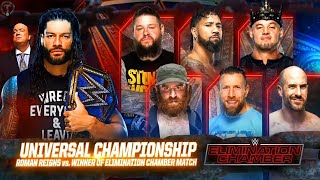 WWE Elimination Chamber 2021 Official And Full Match Card HD