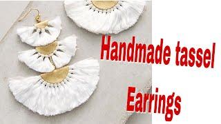 DIY Tassel Earring // How to make silk thread Tassel earrings at home / silk Thread earrings