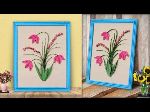WOW... What A Paper Craft Idea || DIY Paper Quilling Wall Frame || Home Decoration Ideas