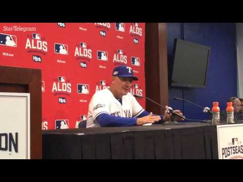 Jeff Banister after Rangers lose 10-1 in Game 1