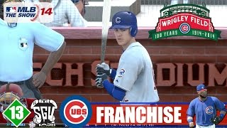 MLB 14: The Show (PS4) Chicago Cubs Franchise - EP13 (vs Cardinals) Javier Baez Debut