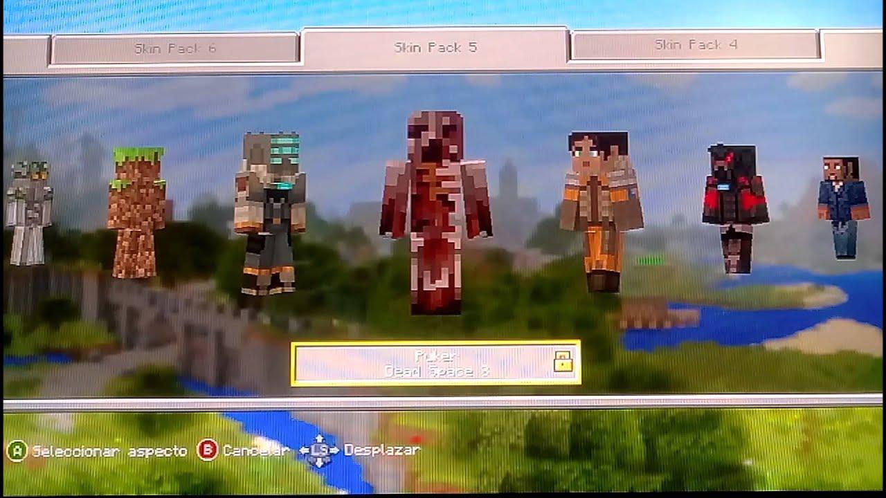 COMO TENER MÁS SKINS GRATIS EN MINECRAFT XBOX EDITION - Skins gratis minecraft xbox 360