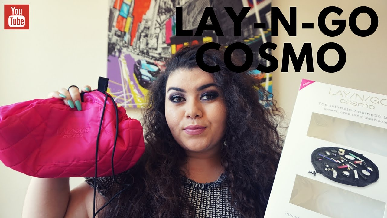 aa058665c31 Lay and Go Cosmo Bag Review and How to use Travel Makeup Bag 2016 ...