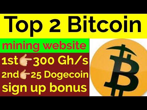 Top 2 Bitcoin Mining Websites Without Investment 300 Gh/s \u0026 25 Dogecoin Bonus   Yasir Official
