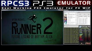 RPCS3 0.0.0.5 WIP PS3 Emulator Bit Trip Presents Runner2 Future Legend of Rhythm Alien Ingame!