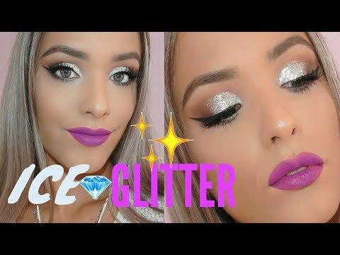 ICE GLITTER Makeup Tutorial  Labbra Viola!💜✨Vanessa Spada