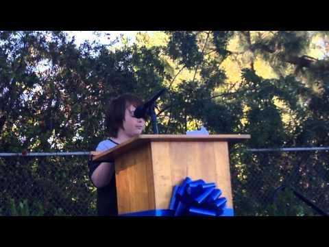 Herschey's Lanai Road Elementary School Nation Blue Ribbon speech