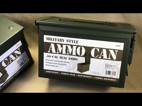 Military Style.50 cal M2A1 Ammo Can from Harbor Freight - Item 63181