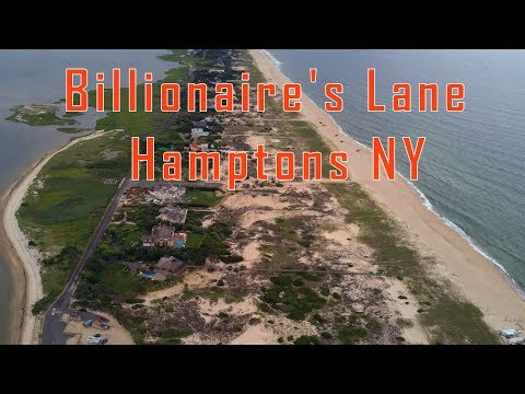 Billionaire's Lane - The Hamptons in New York. Aerial / Drone View Dji Mavic Pro