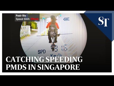 Catching speeding PMDs in Singapore | The Straits Times